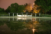 George Mason Memorial at night