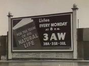 3AW advertising billboard in Melbourne, Victoria, Australia Source http://www.slv.vic.gov.au/pictoria/b/3/1/doc/b31875.shtml