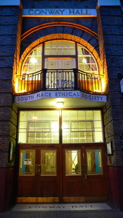 Conway Hall Humanist Centre, home of the South Place Ethical Society, the oldest freethought community in the world. (Established 1793)