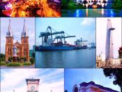 A collage of landmarks in Ho Chi Minh City, Vietnam.