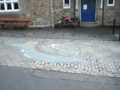 English: The Bidder Mosaic, Moretonhampstead Designed by Emma Spring (Saltash); this celebrates the