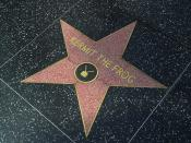 Kermit the frog in the Hollywood walk of fame, Photo courtesy PDPhoto.org