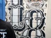 English: 18th Street gang graffiti.