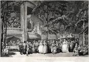 Vauxhall Gardens by Thomas Rowlandson (1756-1827).