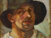 Self-portrait with hat. 1906.