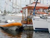 SailTime's Booth and Sailboats at #SPDB