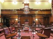 English: the legislative council chamber of NSW