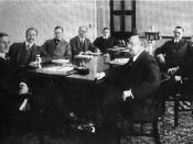 1917 photograph of the board of the Federal Reserve of the United States.