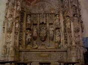 Manueline (16th c.) tomb of King Afonso Henriques in the Santa Cruz Monastery of Coimbra, Portugal