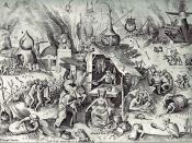 Pieter Bruegel the Elder: The Seven Deadly Sins or the Seven Vices - Avarice