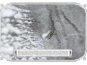 English: Aerial photograph of a gas attack launched by the Germans against the Russians circa 1916