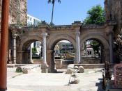 Hadrian's Gate, built in the honor of the Roman emperor Hadrian, who visited Antalya in the year 130