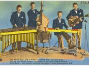 The Harlin Bros. left to right -- Jimmie, Win, Jay and Herb. Vod-vil and radio artists. Inventors of the now famous Kalinda-Multi-Kord -- the world's greatest Hawaiian Guitar, Indianapolis, Ind.