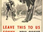 English: Poster used by the British government in the London Underground to spread the word about the Evacuations of civilians in Britain during World War II