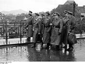 Adolf Hitler and Martin Bormann visiting occupied Maribor in April 1941, officially launching the Nazi anti-Slovene policies.
