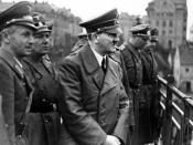 Siegfried Uiberreither, on far right, with Martin Bormann and Adolf Hitler