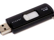 English: A Sandisk-brand USB thumb drive, SanDisk Cruzer Micro, 4GB.