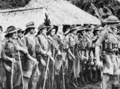 Militia soldiers of the 39th Battalion following their relief at Kokoda in September 1942