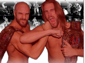 Promotional poster featuring the Kings of Wrestling (Claudio Castagnoli and Chris Hero)