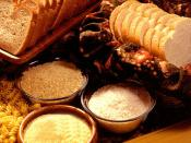 Grain products are often baked, and are rich sources of complex and simple carbohydrates.