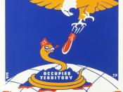 Poster for Thirteenth Naval District, United States Navy, showing a snake representing Japan being bombed by an eagle. An example of American propaganda during World War II.