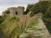 Section of the western curtain wall leading to Peverell's Gateway