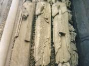 Figures from Cathedral of Chartres Picture taken by Eixo