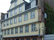 English: Goethe-House, Grosser Hirschgraben, Frankfurt am Main Innenstadt Deutsch: Goethe-Haus im Grossen Hirschgraben in Ffm-Innenstadt