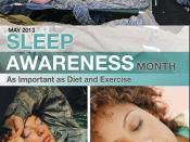 Sleep Awareness Month Poster