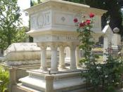 Tomb of Elizabeth Barrett Browning on the Cimitero degli Inglesi, Florence.