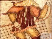 Loki as depicted on an 18th century Icelandic manuscript