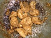 English: Filipino chicken adobo.