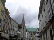Rue des Changes, Chartres - looking back at the cathedral