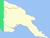 Location of the Sepik River