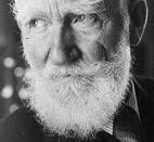 CLipped version of picture of George Bernard Shaw, Irish playwright.