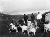 Andreas Moe og trenkorpset besøker en seter (ca. 1903)
