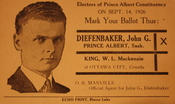 Election handout for John Diefenbaker, 1926