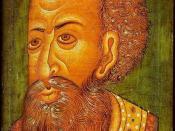 English: Tsar Ivan IV the Terrible Norsk (bokmål): Ivan IV av Russland («den grusomme»). Portrettet ble malt omkring år 1600, og regnes som det mest autentiske som finnes av Ivan. Det kom til Danmark på midten av 1600-tallet, og henger nå på Nasjonalm