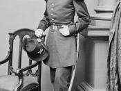 English: Gen. Charles Griffin (1825 - 1867) (as Captain), career officer in the United States Army and a Union general in the American Civil War. He rose to command a corps in the Army of the Potomac and fought in many of the key campaigns in the Eastern