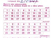 English: Romanian ration-card for bread, 1989