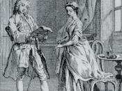 Pamela, or, Virtue Rewarded (1742). Mr B reads Pamela's letter.