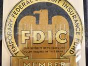 FDIC placard from when the deposit insurance limit was $2,500.