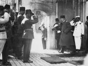 1922, Departure of Mehmed VI who was the last Sultan of the Ottoman Empire
