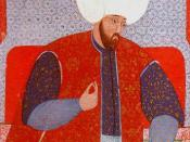 This portrait of Suleyman the Magnificent, Sultan of the Ottoman Empire from 1520 to 1566, is taken from the book Semailname.
