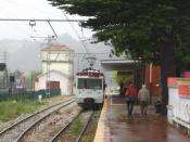 Endstation of the FEVE F7 line (Oviedo - San Esteban) at the coastal village.