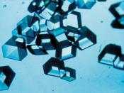 Synthetic insulin crystals synthesized using recombinant DNA technology