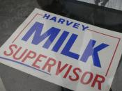 English: Harvey Milk Català: Cartell utilitzat per la campanya de Harvey Milk com a supervisor.