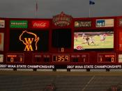 English: Scoreboard for 2007 State Championship Game. Division 1-High School Football.