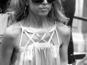 Stylist Rachel Zoe exits the Bryant Park tents during the Mercedes-Benz Fashion Week show on September 9, 2007.