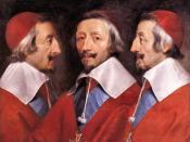 English: Triple Portrait of Cardinal de Richelieu Français : Triple portrait du Cardinal de Richelieu.